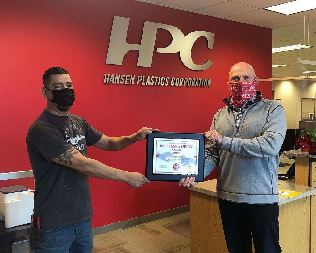 Jose Ramirez awarded the HPC Selfless Service Award